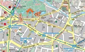 Stadtplanausschnitt Berlin